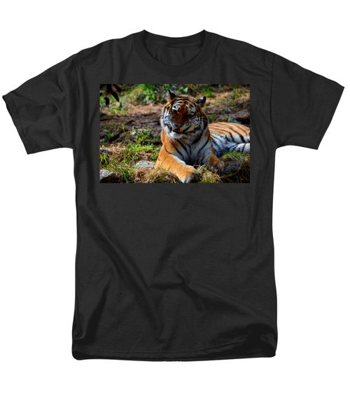 Men's T-Shirt  (Regular Fit) featuring the mixed media Amur Tiger 4 by Angelina Vick