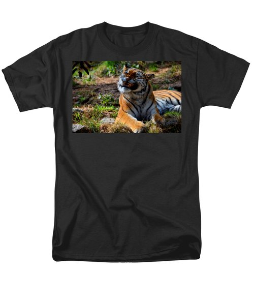 Men's T-Shirt  (Regular Fit) featuring the mixed media Amur Tiger 6 by Angelina Vick