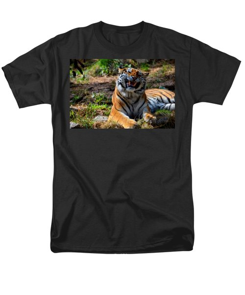 Men's T-Shirt  (Regular Fit) featuring the mixed media Amur Tiger 7 by Angelina Vick