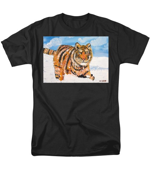 Amur Tiger Men's T-Shirt  (Regular Fit)
