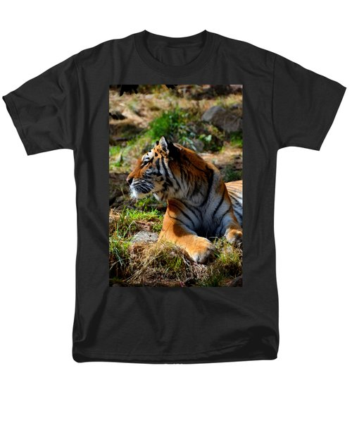 Men's T-Shirt  (Regular Fit) featuring the mixed media Amur Tiger 9 by Angelina Vick