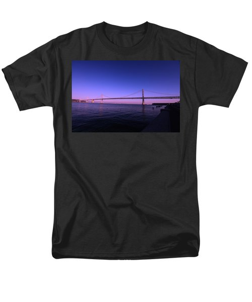 An Evening In San Francisco  Men's T-Shirt  (Regular Fit) by Linda Edgecomb