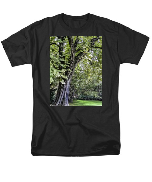 Men's T-Shirt  (Regular Fit) featuring the photograph Ancient Tree Luxembourg Gardens Paris by Sally Ross