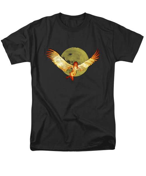 Angel And The Moon Men's T-Shirt  (Regular Fit) by Ericamaxine Price