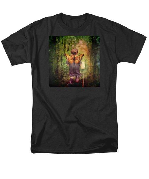 Men's T-Shirt  (Regular Fit) featuring the digital art Angel Wings by Lisa Noneman