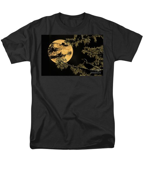 Men's T-Shirt  (Regular Fit) featuring the photograph Anhingas In Full Moon by Bonnie Barry