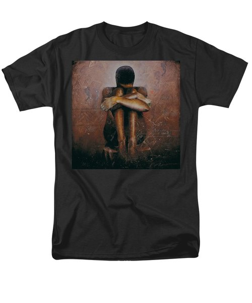 Men's T-Shirt  (Regular Fit) featuring the painting Annunciation / Mary by Christopher Marion Thomas