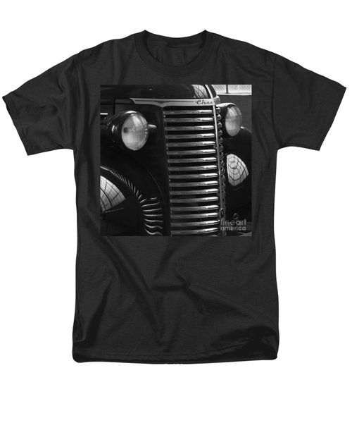 Antique Truck Black And White Men's T-Shirt  (Regular Fit) by Wilma  Birdwell