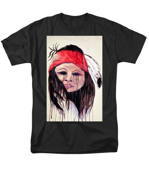 Watercolor Painting Of Apache Tears By Ayasha Loya Men's T-Shirt  (Regular Fit) by Ayasha Loya