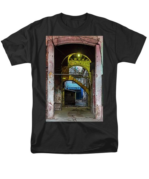 Men's T-Shirt  (Regular Fit) featuring the photograph Apartment Enrance Havana Cuba Near Calle C by Charles Harden