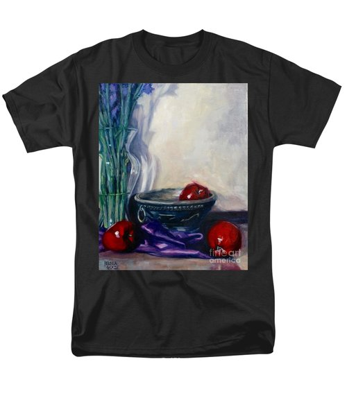 Men's T-Shirt  (Regular Fit) featuring the painting Apples And Silk by Rebecca Glaze