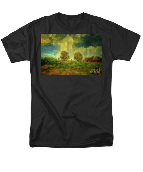 Men's T-Shirt  (Regular Fit) featuring the digital art Approaching Storm At Antietam by Lois Bryan