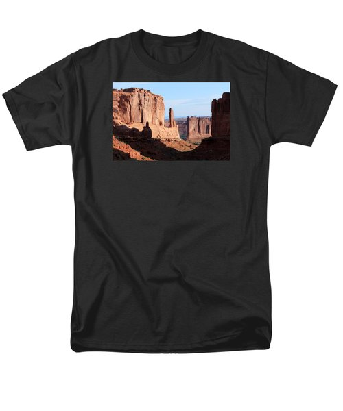 Men's T-Shirt  (Regular Fit) featuring the photograph Arches Morning by Elizabeth Sullivan