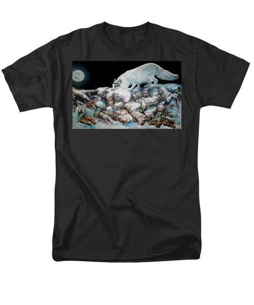 Men's T-Shirt  (Regular Fit) featuring the painting Arctic Encounter by Sherry Shipley