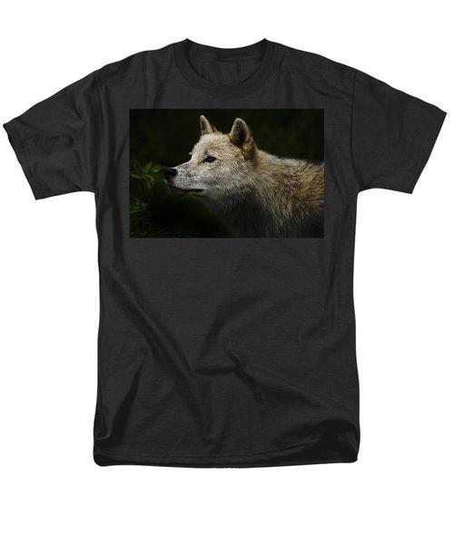 Men's T-Shirt  (Regular Fit) featuring the photograph Arctic Wolf Portrait by Michael Cummings