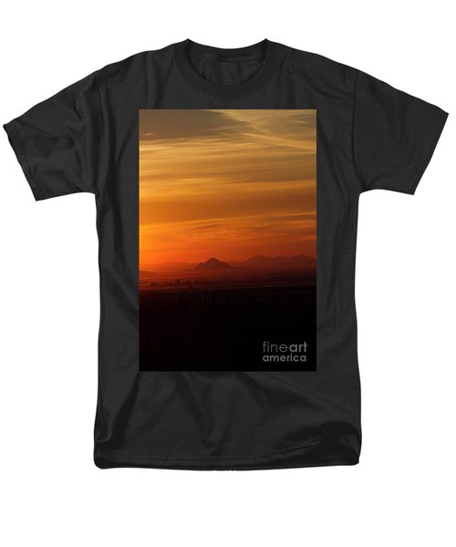 Men's T-Shirt  (Regular Fit) featuring the photograph Arizona Sunrise by Anne Rodkin