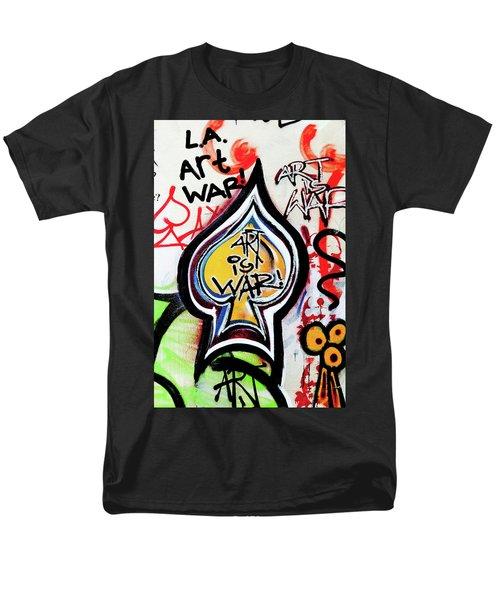 Men's T-Shirt  (Regular Fit) featuring the photograph Art Is War by Art Block Collections