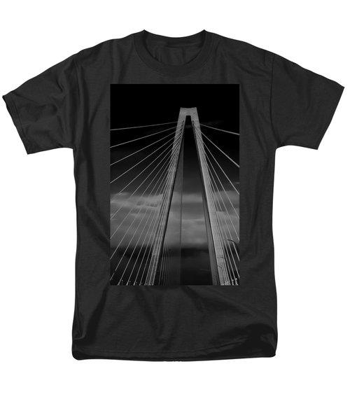 Arthur Ravenel Jr Bridge Men's T-Shirt  (Regular Fit) by DigiArt Diaries by Vicky B Fuller