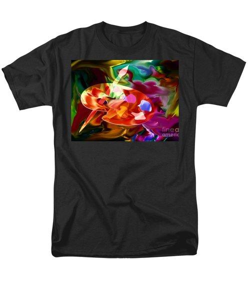 Artist Palette In Neon Colors Men's T-Shirt  (Regular Fit) by Annie Zeno