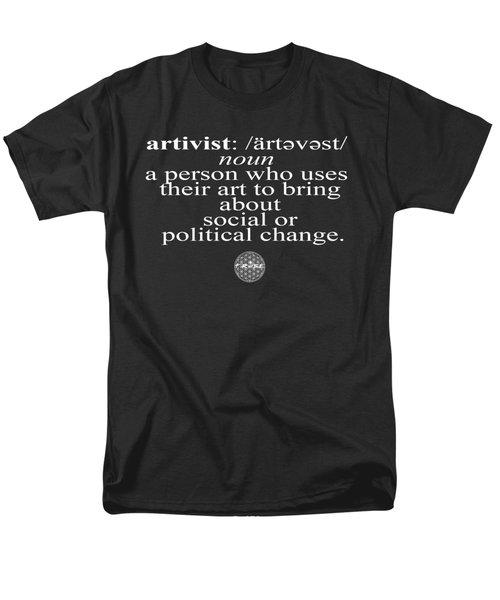Artivism Men's T-Shirt  (Regular Fit) by Chief Hachibi