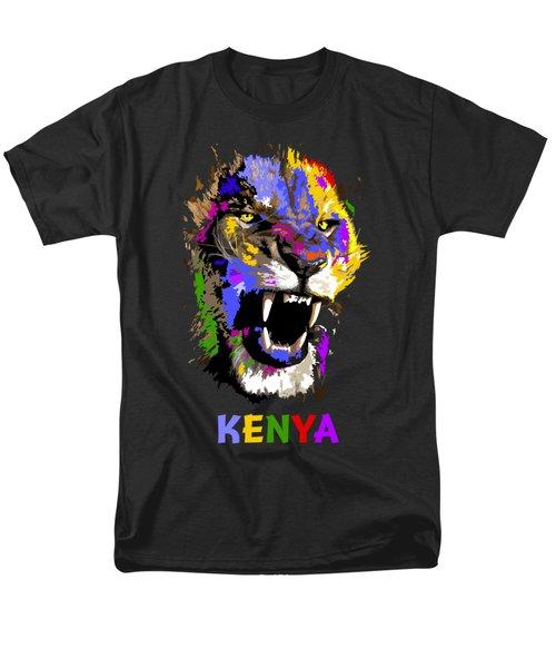 Cat Snarl Men's T-Shirt  (Regular Fit) by Anthony Mwangi