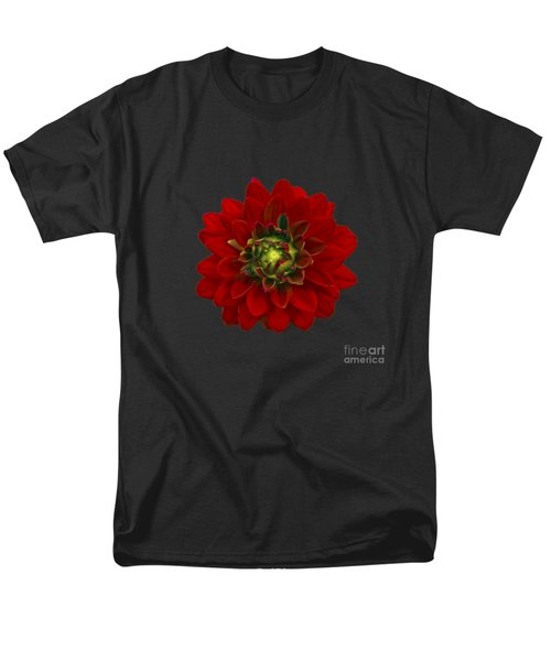 Men's T-Shirt  (Regular Fit) featuring the photograph Red Dahlia by Michael Peychich