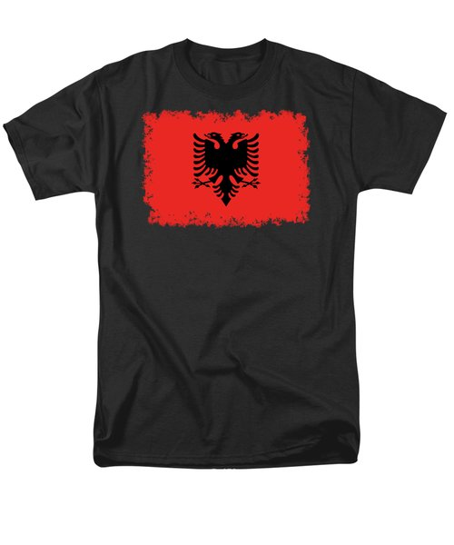 Flag Of Albania Authentic Version Men's T-Shirt  (Regular Fit) by Bruce Stanfield