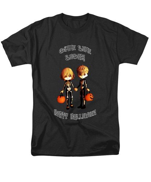 Skeleton Twinz Halloween Men's T-Shirt  (Regular Fit) by Methune Hively