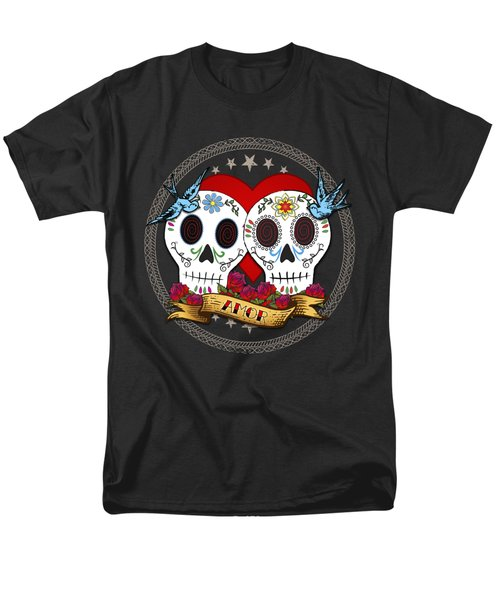 Love Skulls II Men's T-Shirt  (Regular Fit) by Tammy Wetzel