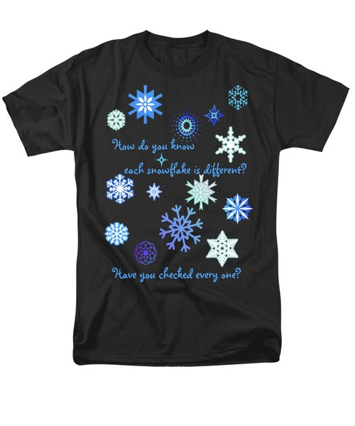 Snowflakes 2 Men's T-Shirt  (Regular Fit) by Methune Hively