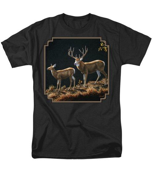 Mule Deer Ridge Men's T-Shirt  (Regular Fit) by Crista Forest