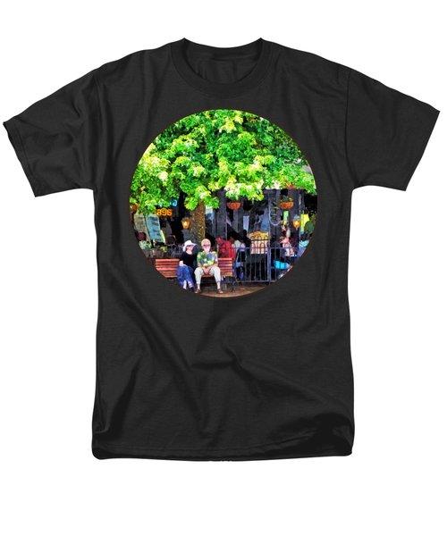 Asheville Nc Outdoor Cafe Men's T-Shirt  (Regular Fit) by Susan Savad