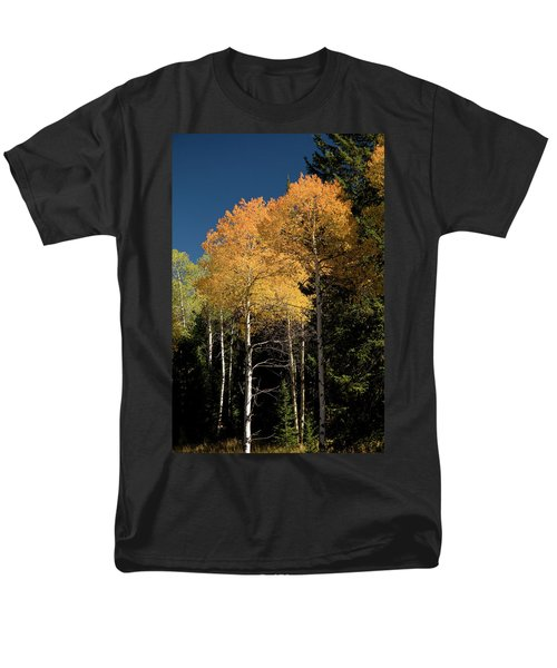 Men's T-Shirt  (Regular Fit) featuring the photograph Aspens And Sky by Steve Stuller
