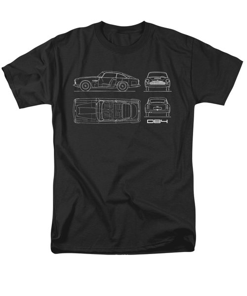Aston Martin Db4 Blueprint Men's T-Shirt  (Regular Fit) by Mark Rogan