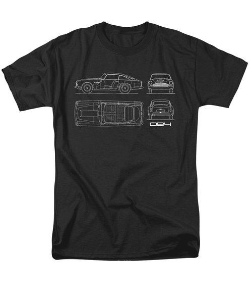 Aston Martin Db4 Blueprint Men's T-Shirt  (Regular Fit)