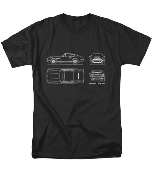 Aston Martin V8 Vantage Blueprint Men's T-Shirt  (Regular Fit) by Mark Rogan