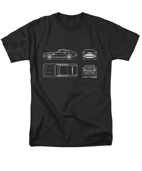 Aston Martin V8 Vantage Blueprint Men's T-Shirt  (Regular Fit)