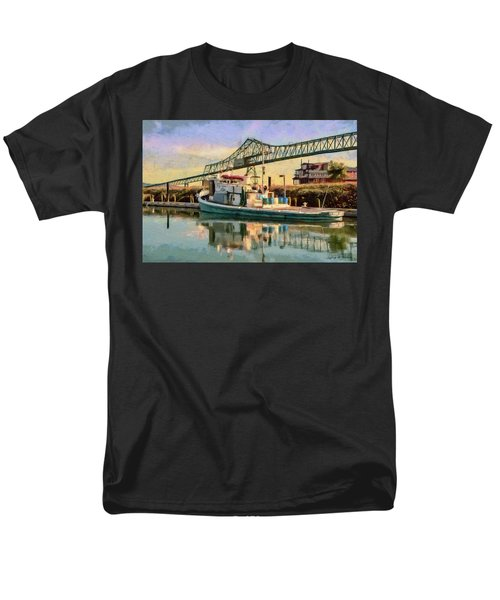 Men's T-Shirt  (Regular Fit) featuring the painting Astoria Waterfront, Scene 1 by Jeff Kolker