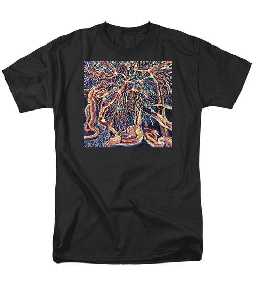 Astrocytes Microbiology Landscapes Series Men's T-Shirt  (Regular Fit) by Emily McLaughlin
