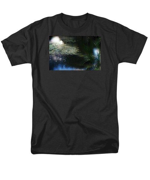 Men's T-Shirt  (Regular Fit) featuring the photograph At Claude Monet's Water Garden 3 by Dubi Roman