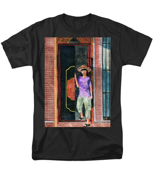 Men's T-Shirt  (Regular Fit) featuring the painting At Puri Kelapa by Melly Terpening