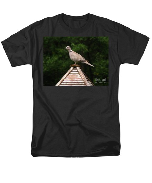 At The Top Of The Bird Feeder Men's T-Shirt  (Regular Fit) by Donna Brown