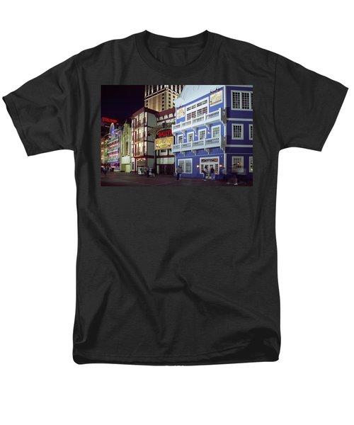 Atlantic City Boardwalk At Night Men's T-Shirt  (Regular Fit) by Sally Weigand