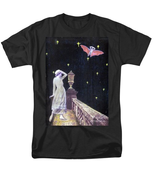 Men's T-Shirt  (Regular Fit) featuring the mixed media Attempted Pick Up by Desiree Paquette