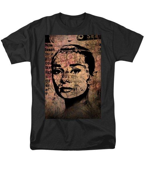 Men's T-Shirt  (Regular Fit) featuring the mixed media Audrey Hepburn #7 by Kim Gauge