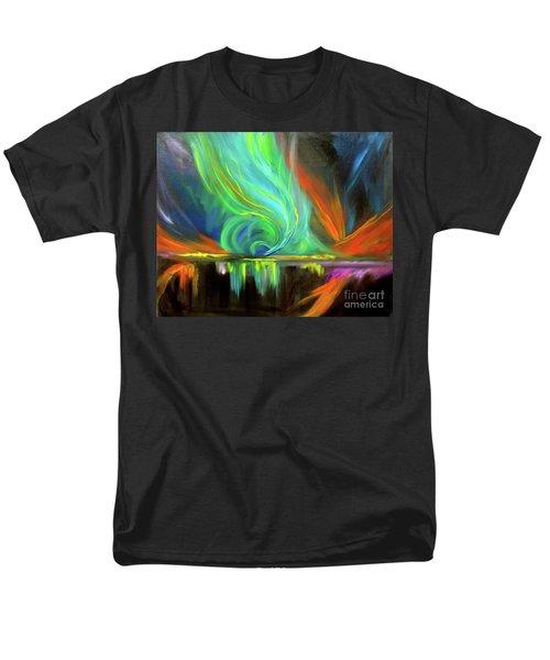 Aurora Borealis Men's T-Shirt  (Regular Fit) by Jenny Lee