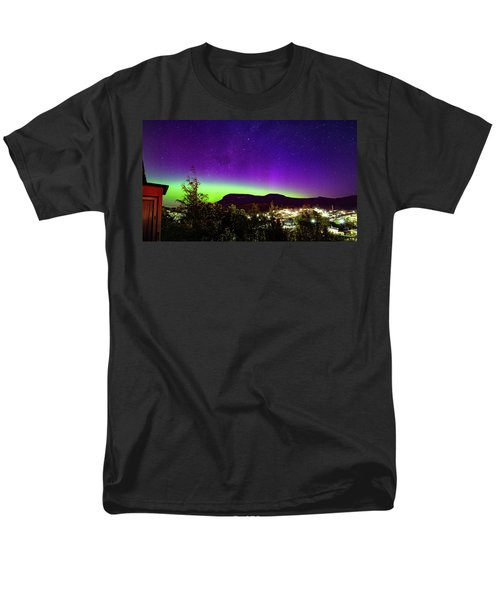 Men's T-Shirt  (Regular Fit) featuring the photograph Aurora Over Mt Wellington, Hobart by Odille Esmonde-Morgan