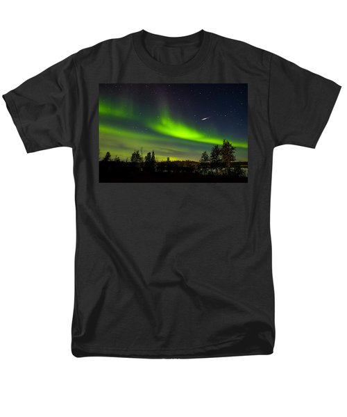 Aurora With Meteor  Men's T-Shirt  (Regular Fit) by John McArthur