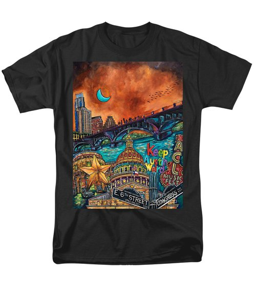 Men's T-Shirt  (Regular Fit) featuring the painting Austin Keeping It Weird by Patti Schermerhorn
