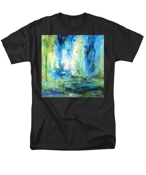 Spring Rain  Men's T-Shirt  (Regular Fit) by Laurie Rohner